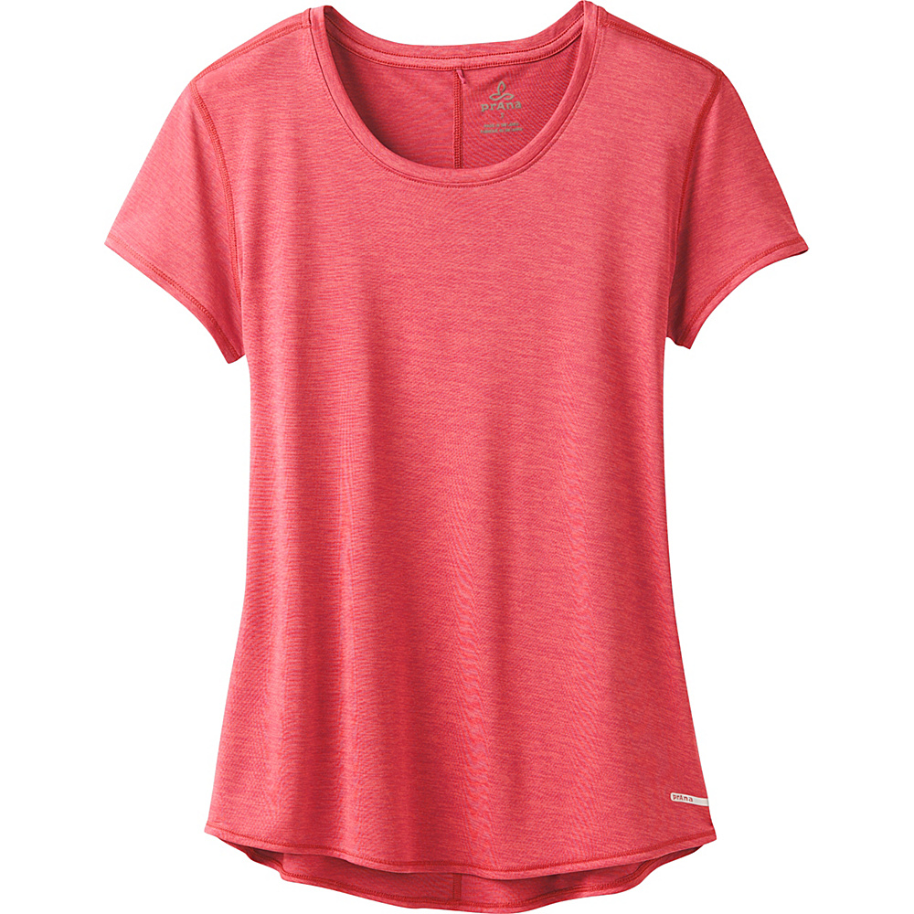 PrAna Revere Short Sleeve Tee L - Fiery Red - PrAna Womens Apparel - Apparel & Footwear, Women's Apparel