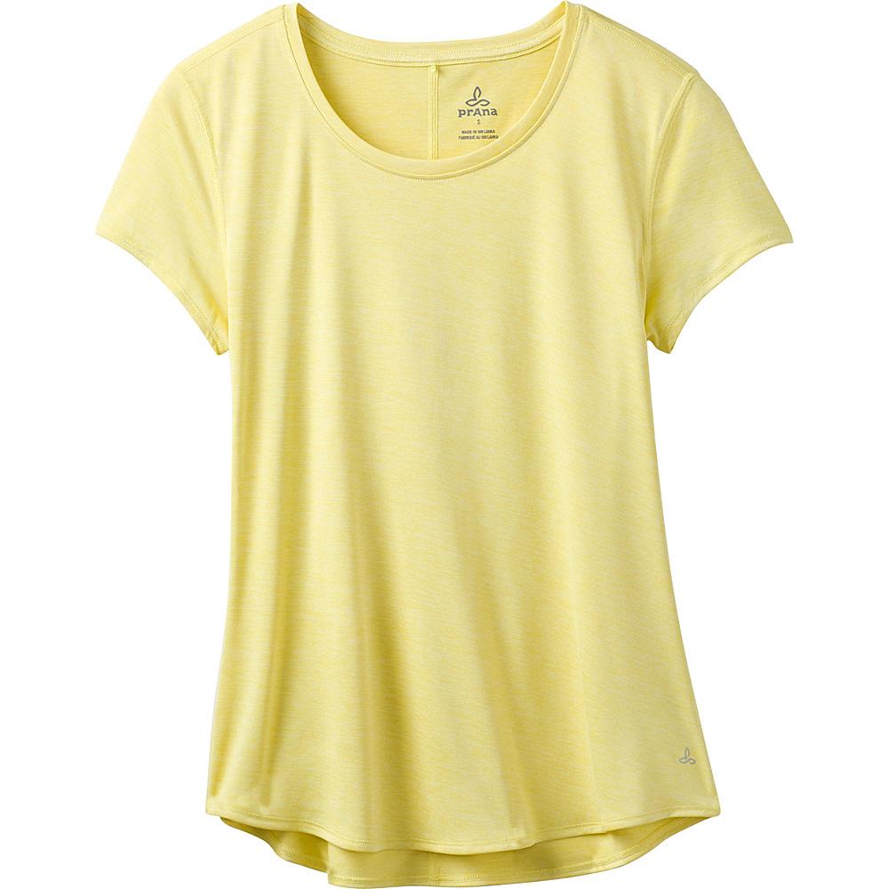PrAna Revere Short Sleeve Tee XL - Goldfinch - PrAna Womens Apparel - Apparel & Footwear, Women's Apparel