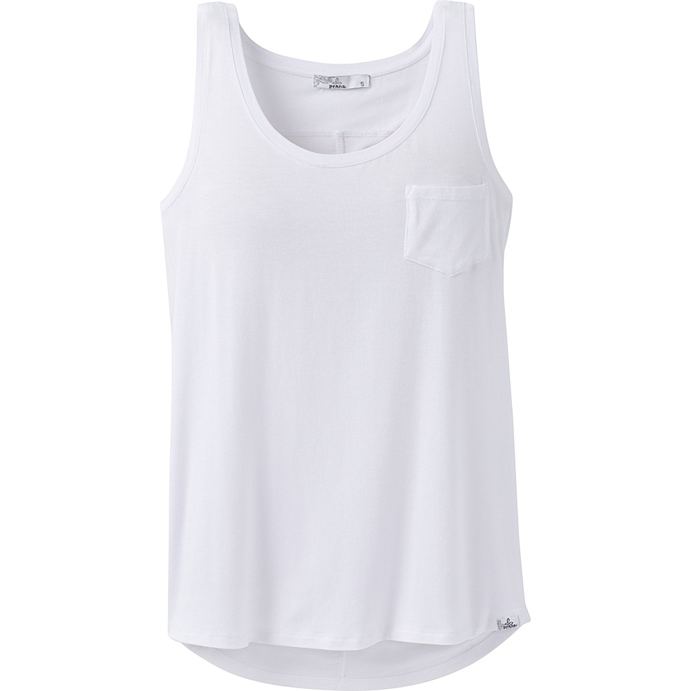 PrAna Foundation Scoop Neck Tank XS - White - PrAna Womens Apparel - Apparel & Footwear, Women's Apparel