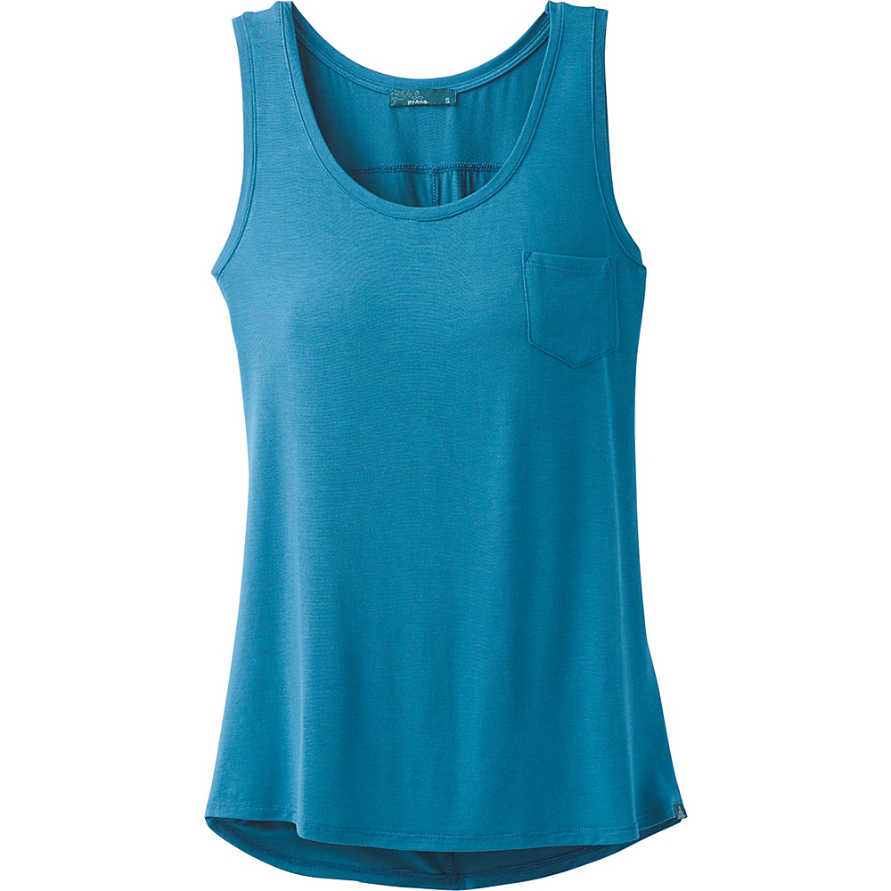 PrAna Foundation Scoop Neck Tank XL - River Rock Blue - PrAna Womens Apparel - Apparel & Footwear, Women's Apparel