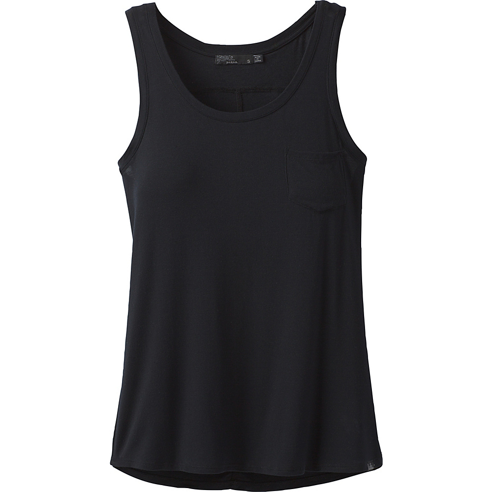 PrAna Foundation Scoop Neck Tank L - Black - PrAna Womens Apparel - Apparel & Footwear, Women's Apparel