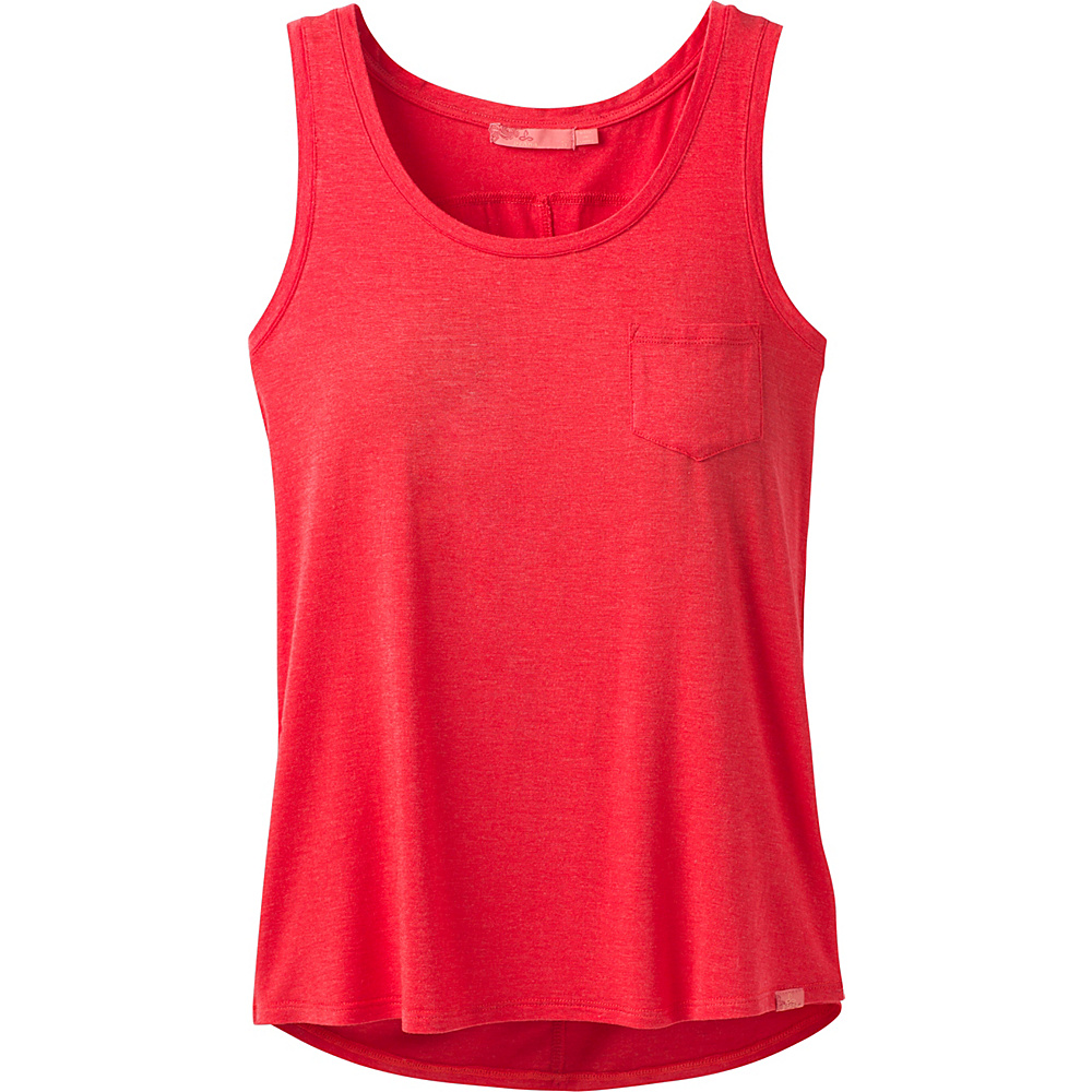PrAna Foundation Scoop Neck Tank XS - Carmine Pink Heather - PrAna Womens Apparel - Apparel & Footwear, Women's Apparel
