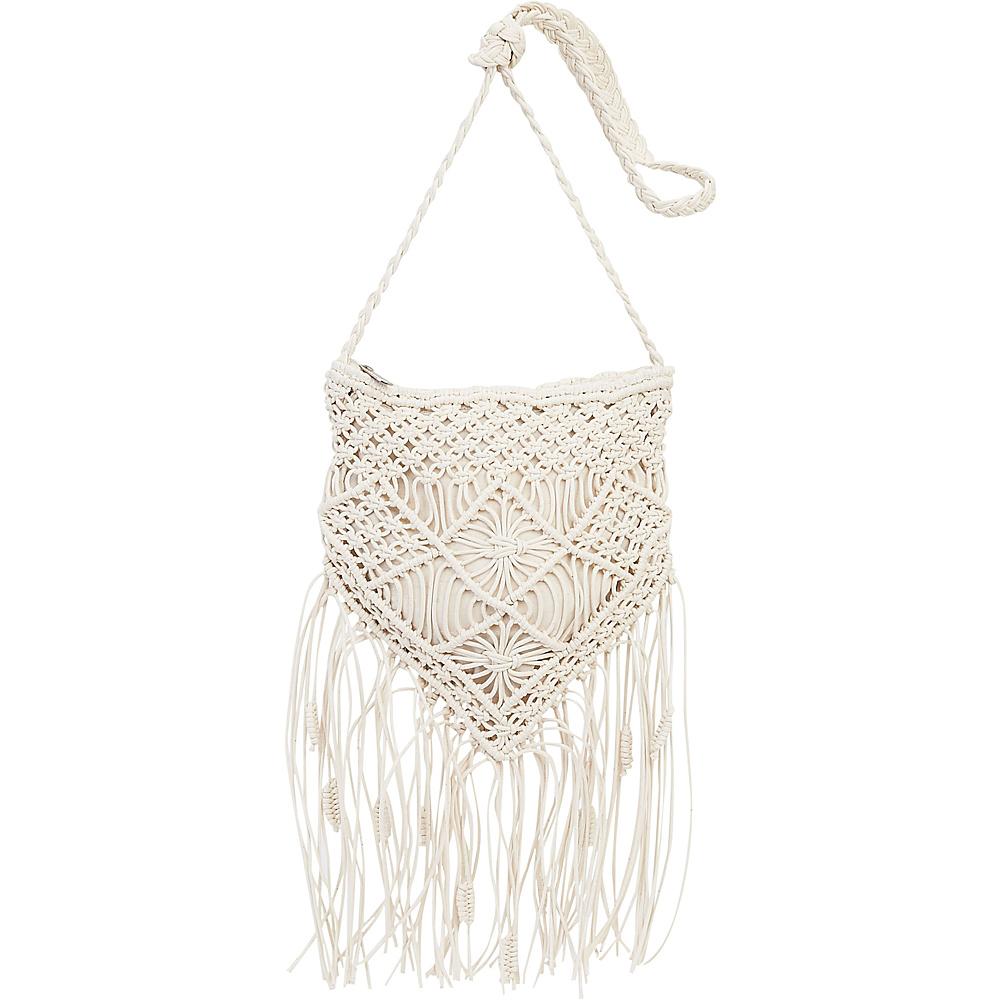 Sun N Sand Natural Crochet Handbag Crossbody Ivory - Sun N Sand Fabric Handbags - Handbags, Fabric Handbags