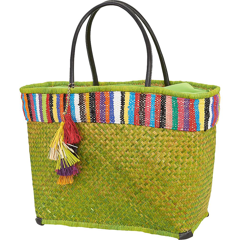 Sun N Sand Raffia Madagascar Handbag Tote Anise Green - Sun N Sand Gym Bags - Sports, Gym Bags