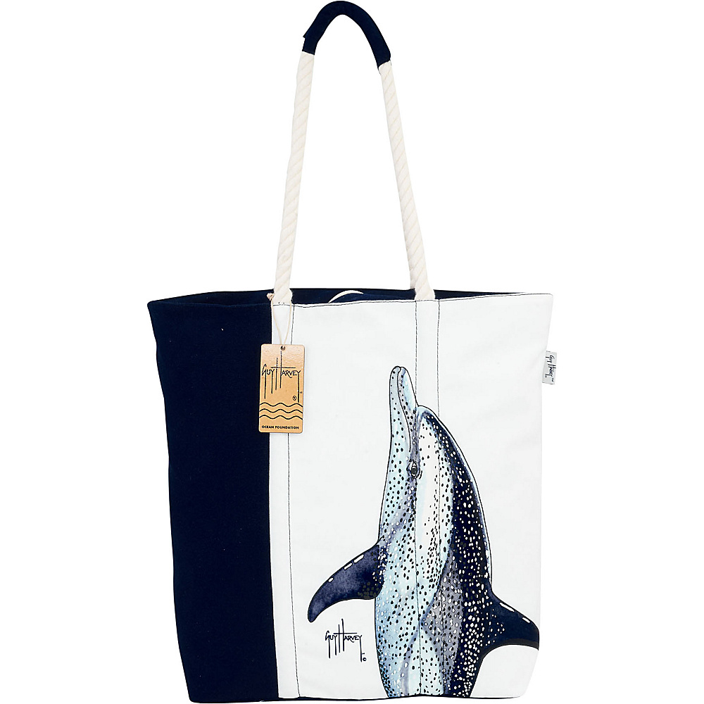 Sun N Sand Guy Harvey Artistic Canvas Tote TAN - Sun N Sand Fabric Handbags - Handbags, Fabric Handbags