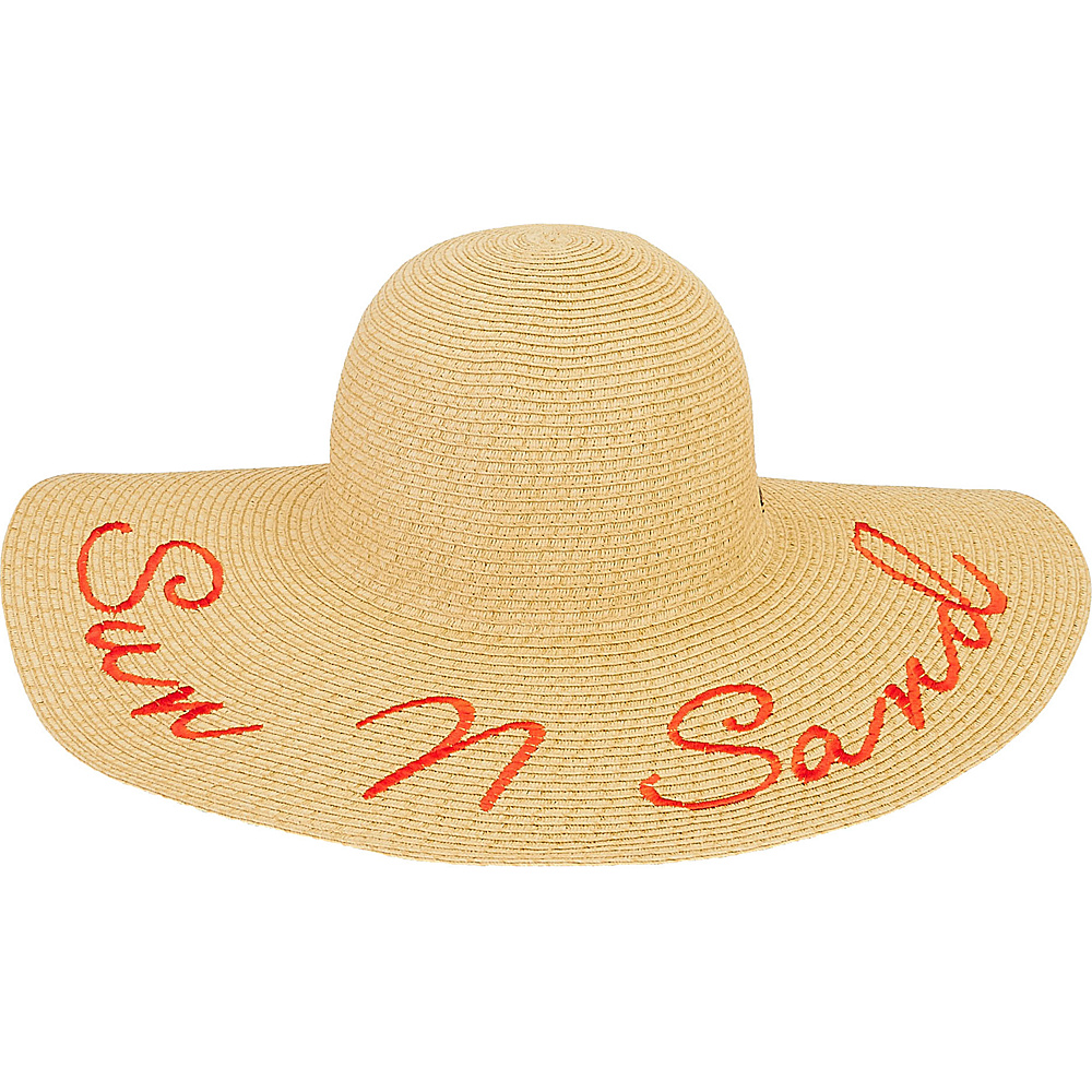 Sun N Sand Paper Braid Hat Natural - Sun N Sand Hats/Gloves/Scarves - Fashion Accessories, Hats/Gloves/Scarves