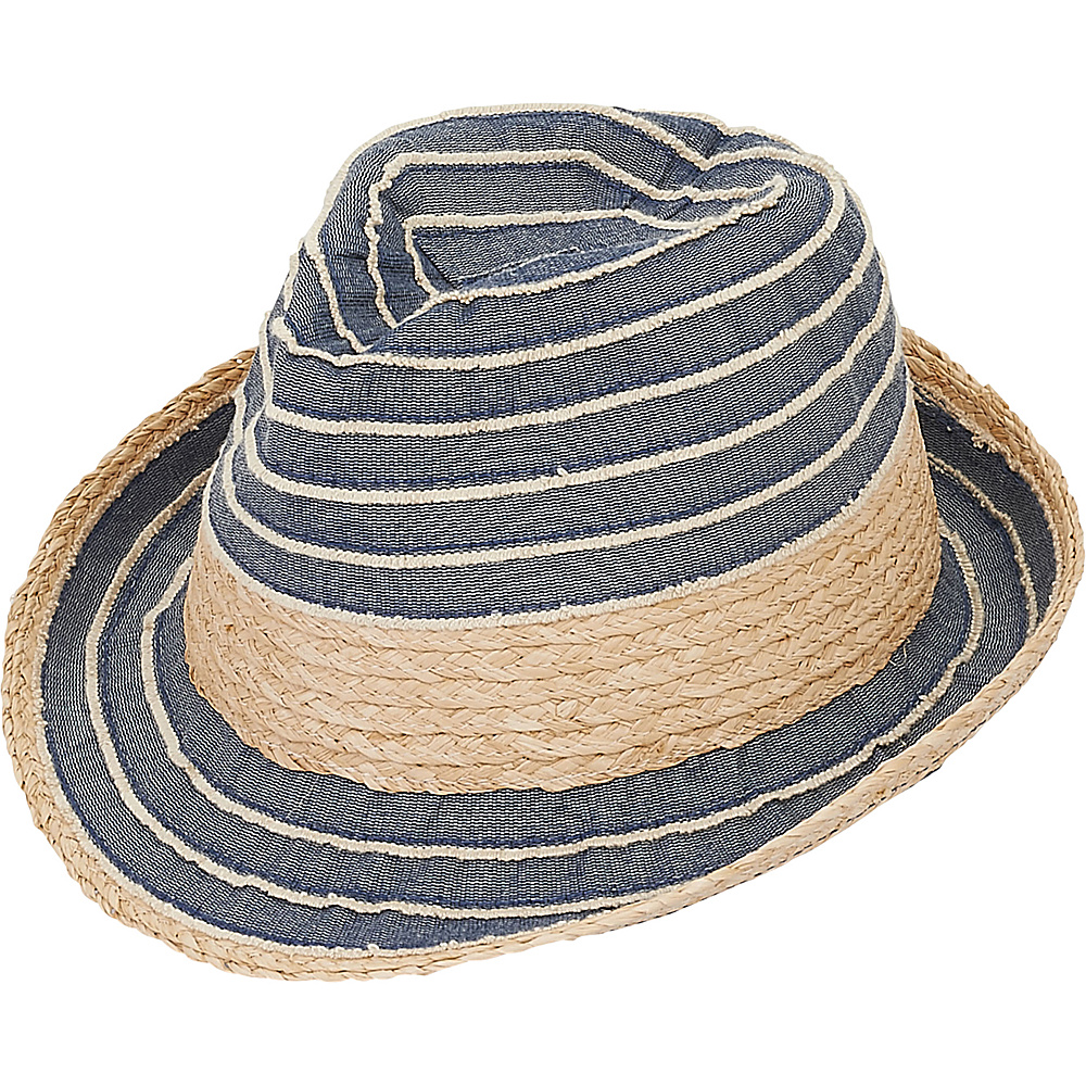 Sun N Sand Fedoras Navy - Sun N Sand Hats/Gloves/Scarves - Fashion Accessories, Hats/Gloves/Scarves