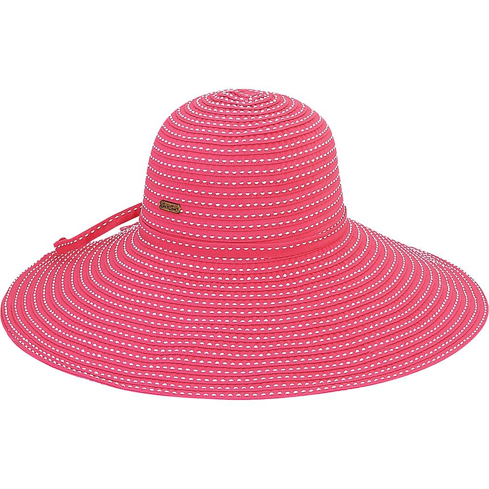 Sun N Sand Ribbons Hat I-Fushia - Sun N Sand Hats - Fashion Accessories, Hats
