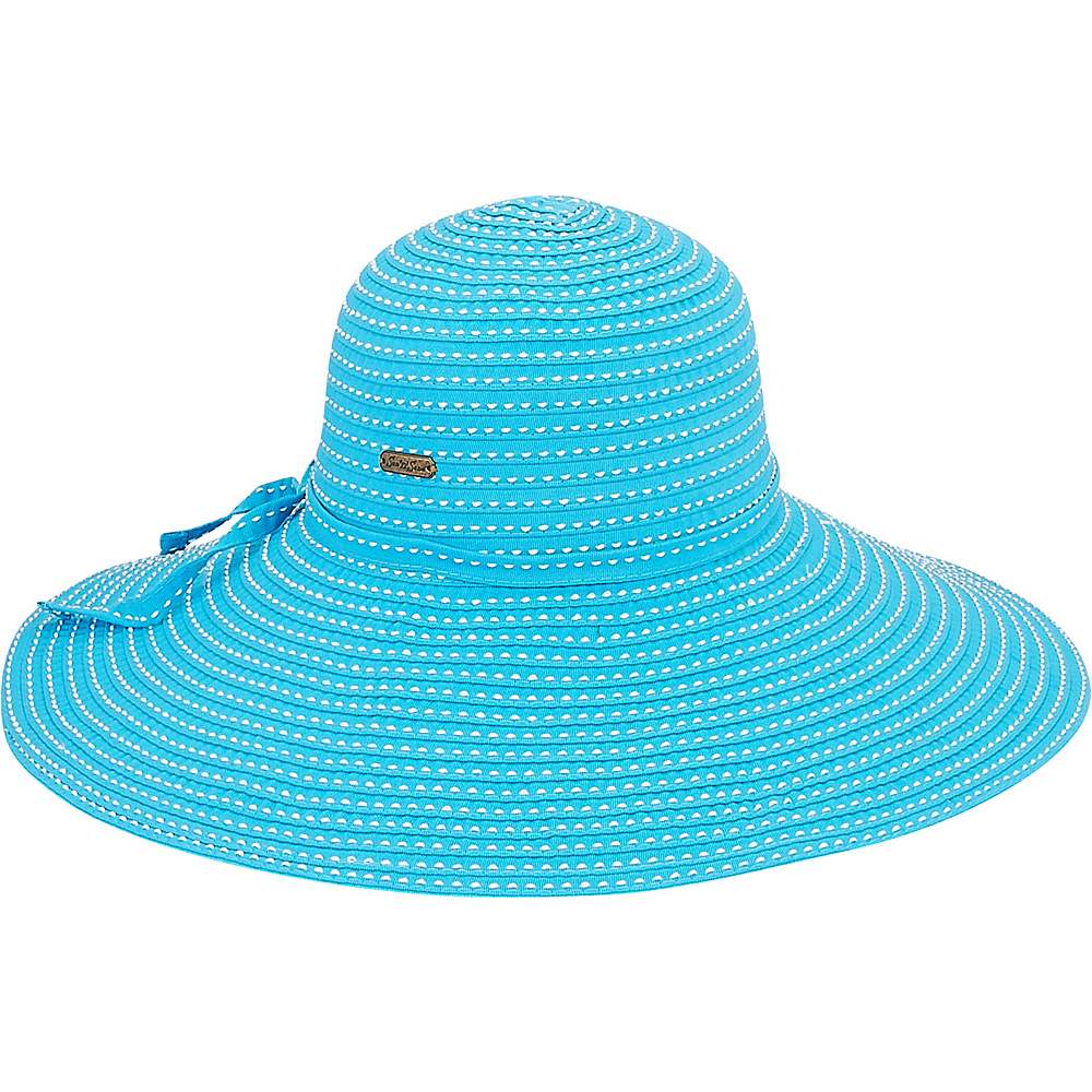 Sun N Sand Ribbons Hat J-Turquoise - Sun N Sand Hats - Fashion Accessories, Hats