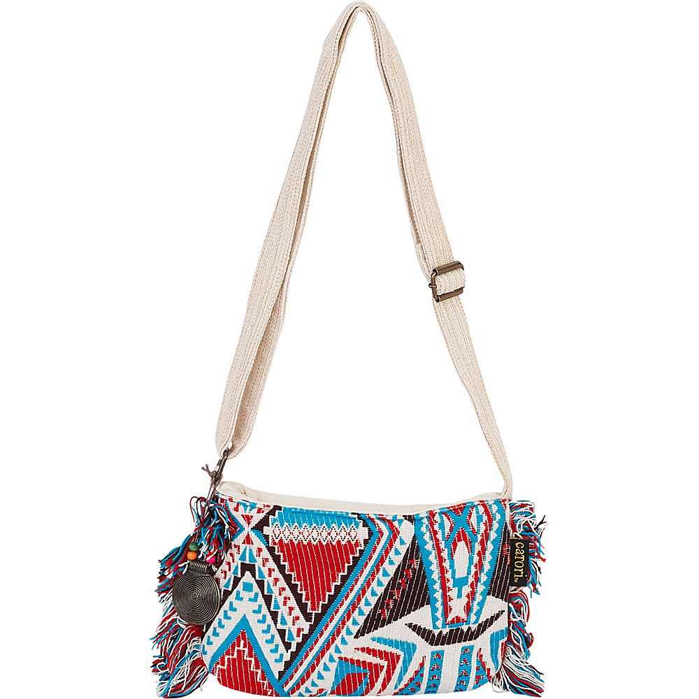 Sun N Sand Damini Crossbody Blue Multi - Sun N Sand Fabric Handbags - Handbags, Fabric Handbags