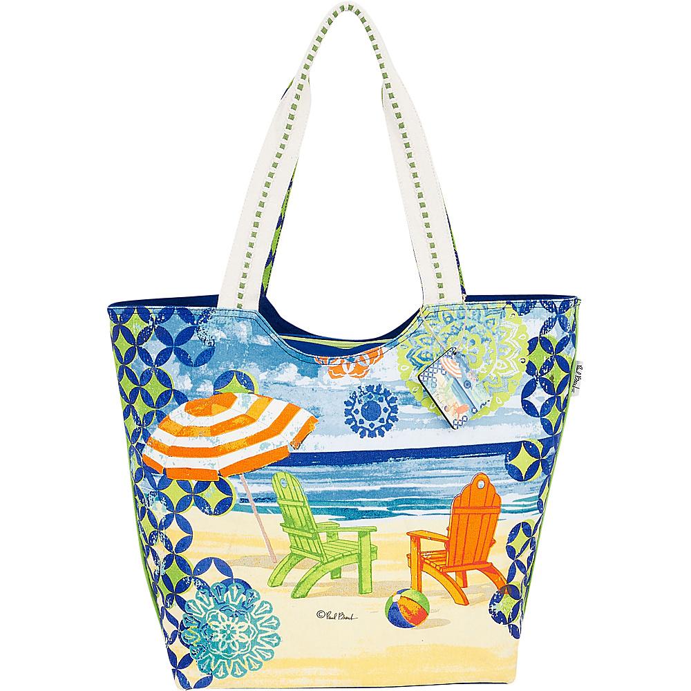 Sun N Sand Paul Brent Artistic Canvas Tote Geo Beach - Sun N Sand Fabric Handbags - Handbags, Fabric Handbags