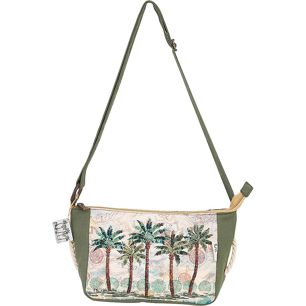Sun N Sand Paul Brent Artistic Canvas Crossbody Del Ray Palm - Sun N Sand Fabric Handbags - Handbags, Fabric Handbags