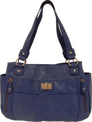 Bueno Veg Tan Satchel Denim - Bueno Manmade Handbags