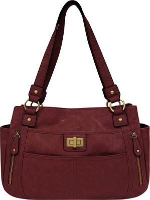 Bueno Veg Tan Satchel Berry - Bueno Manmade Handbags
