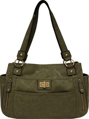 Bueno Veg Tan Satchel Moss - Bueno Manmade Handbags