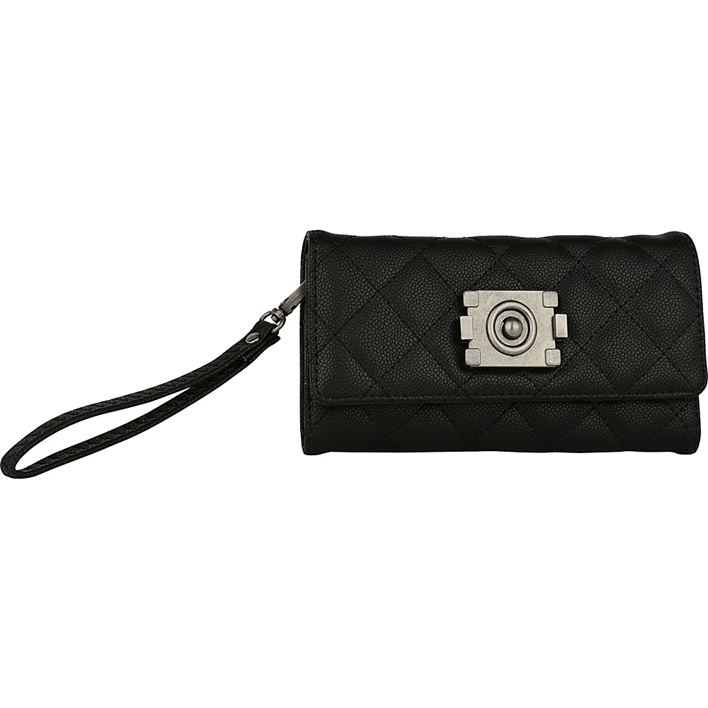 MKF Collection by Mia K. Farrow Gaura Quilted 2-in-1 Wristlet Black - MKF Collection by Mia K. Farrow Womens Wallets - Women's SLG, Women's Wallets