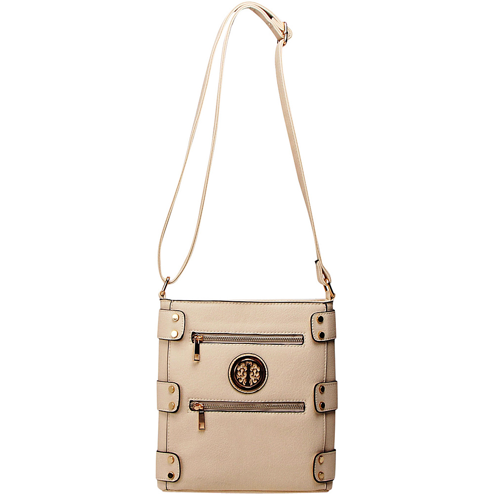 MKF Collection by Mia K. Farrow Adriana Crossbody Beige - MKF Collection by Mia K. Farrow Manmade Handbags - Handbags, Manmade Handbags