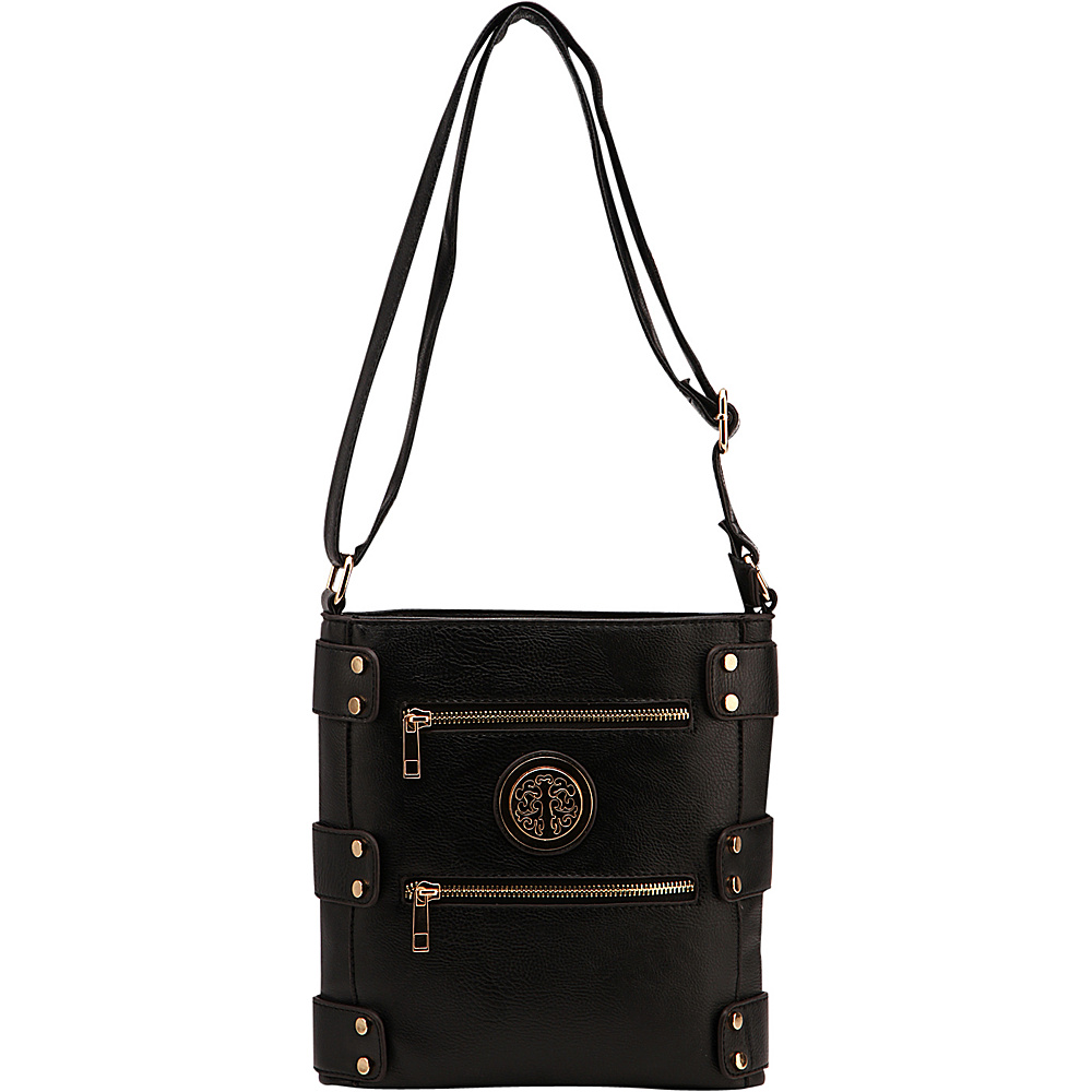 MKF Collection by Mia K. Farrow Adriana Crossbody Black - MKF Collection by Mia K. Farrow Manmade Handbags - Handbags, Manmade Handbags