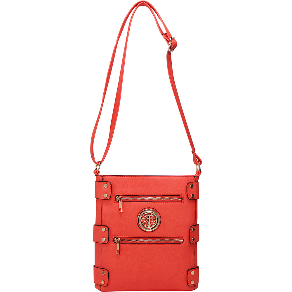 MKF Collection by Mia K. Farrow Adriana Crossbody Coral - MKF Collection by Mia K. Farrow Manmade Handbags - Handbags, Manmade Handbags