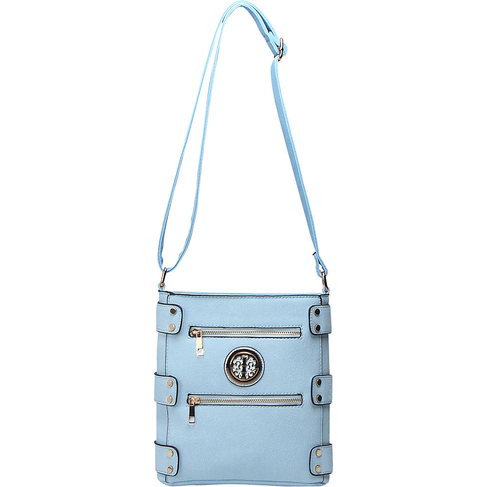 MKF Collection by Mia K. Farrow Adriana Crossbody Light Blue - MKF Collection by Mia K. Farrow Manmade Handbags - Handbags, Manmade Handbags