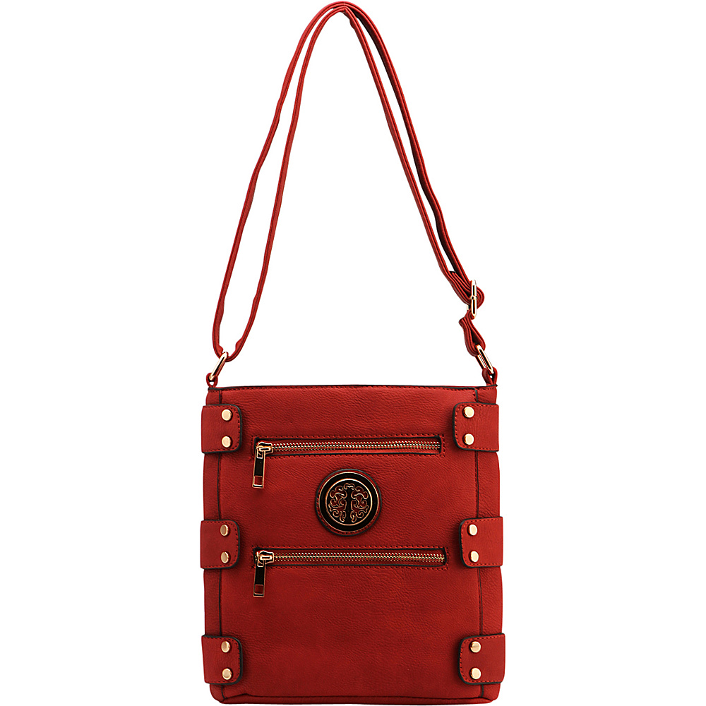 MKF Collection by Mia K. Farrow Adriana Crossbody Red - MKF Collection by Mia K. Farrow Manmade Handbags - Handbags, Manmade Handbags