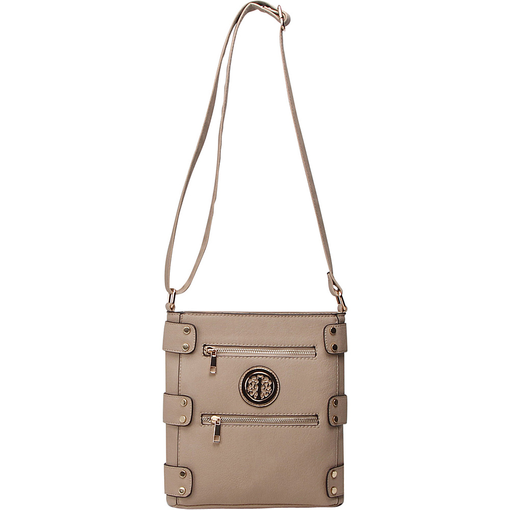 MKF Collection by Mia K. Farrow Adriana Crossbody Taupe - MKF Collection by Mia K. Farrow Manmade Handbags - Handbags, Manmade Handbags
