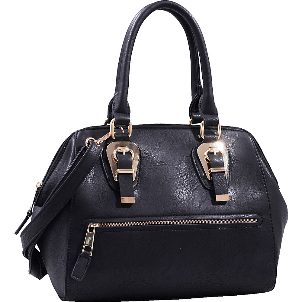 MKF Collection by Mia K. Farrow Riley Satchel Black - MKF Collection by Mia K. Farrow Manmade Handbags - Handbags, Manmade Handbags