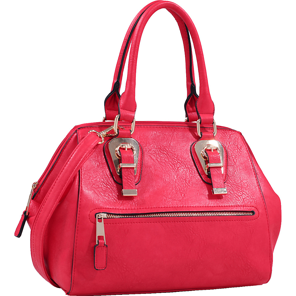 MKF Collection by Mia K. Farrow Riley Satchel Red - MKF Collection by Mia K. Farrow Manmade Handbags - Handbags, Manmade Handbags