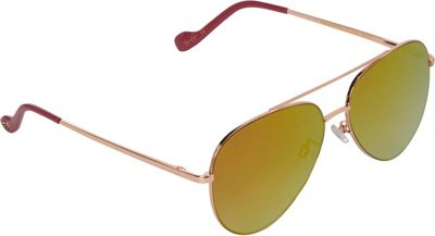 Jessica Simpson Sunwear Aviator with Flat Lens Sunglasses Rose Gold - Jessica Simpson Sunwear Eyewear