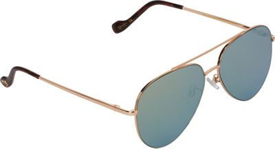 Jessica Simpson Sunwear Aviator with Flat Lens Sunglasses Gold Nude - Jessica Simpson Sunwear Eyewear