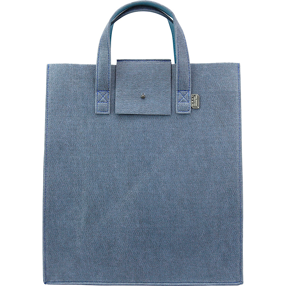 Mad Rabbit Kicking Tiger Parker Tote Skyscraper Blue Mad Rabbit Kicking Tiger Women s Business Bags
