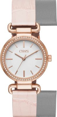 Chaps Alanis Leather Three-Hand Watch Pink - Chaps Watches