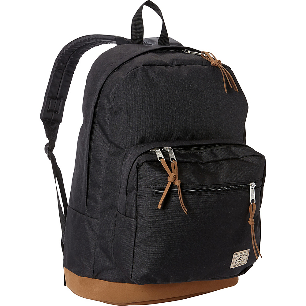 Everest Suede Bottom Daypack with Laptop Pocket Black - Everest School & Day Hiking Backpacks - Backpacks, School & Day Hiking Backpacks