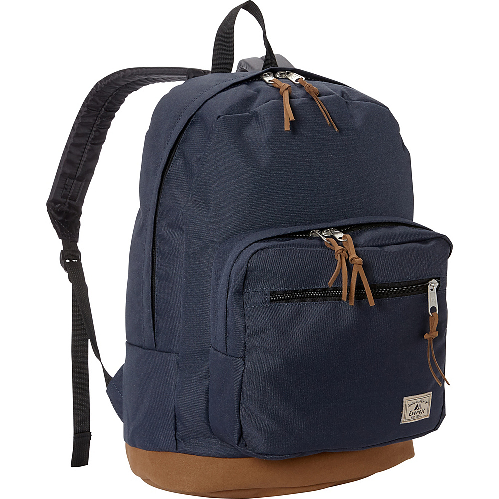 Everest Suede Bottom Daypack with Laptop Pocket Navy - Everest School & Day Hiking Backpacks - Backpacks, School & Day Hiking Backpacks