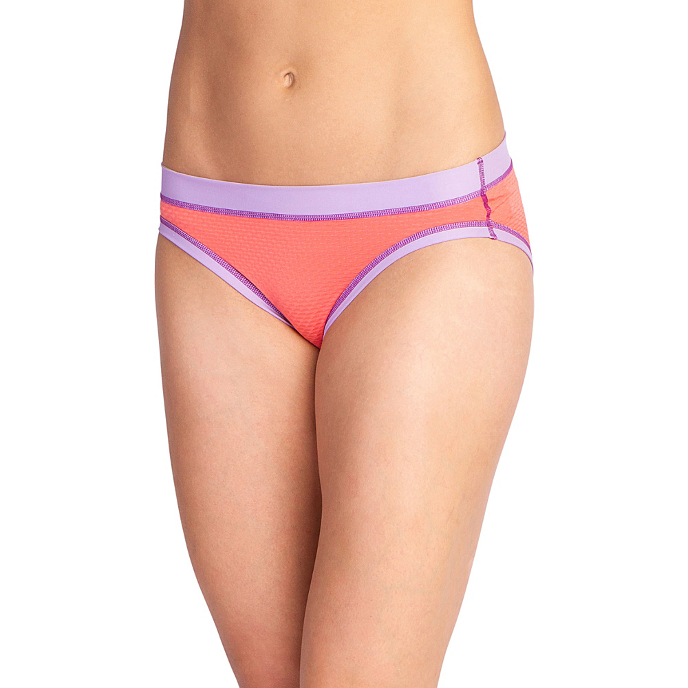 ExOfficio Womens Give-N-Go Sport Mesh Hi Cut Brief L - Hot Coral - ExOfficio Womens Apparel - Apparel & Footwear, Women's Apparel