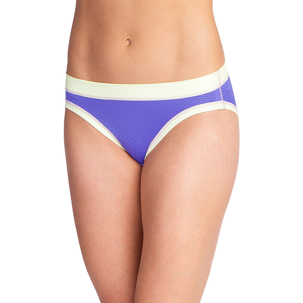 ExOfficio Womens Give-N-Go Sport Mesh Hi Cut Brief XS - Blue Iris - ExOfficio Womens Apparel - Apparel & Footwear, Women's Apparel