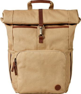 Timberland Wallets Walnut Hill Roll Top Backpack Khaki - Timberland Wallets Laptop Backpacks