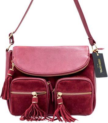 Like Dreams Maria Crossbody Burgundy - Like Dreams Manmade Handbags