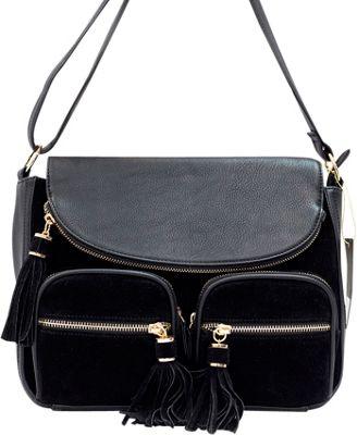 Like Dreams Maria Crossbody Black - Like Dreams Manmade Handbags
