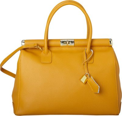 Sharo Leather Bags Elegant Italian Leather Tote and Shoulder Bag Mustard - Sharo Leather Bags Leather Handbags