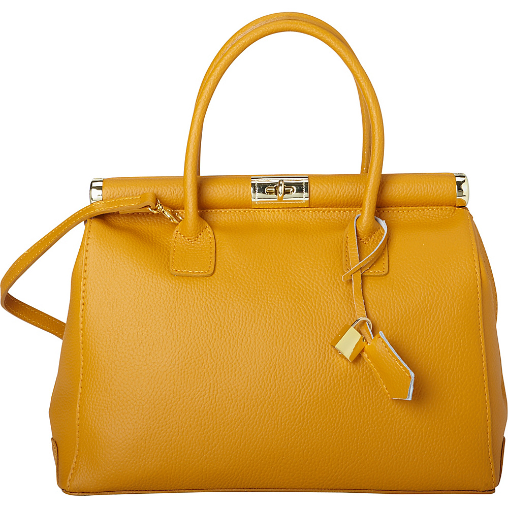 Sharo Leather Bags Elegant Italian Leather Tote And Shoulder Bag Mustard Sharo Leather Bags Leather Handbags