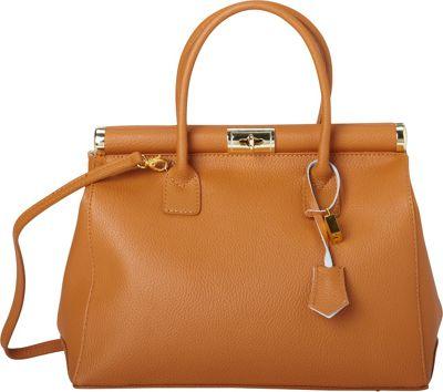 Sharo Leather Bags Elegant Italian Leather Tote and Shoulder Bag Brown - Sharo Leather Bags Leather Handbags