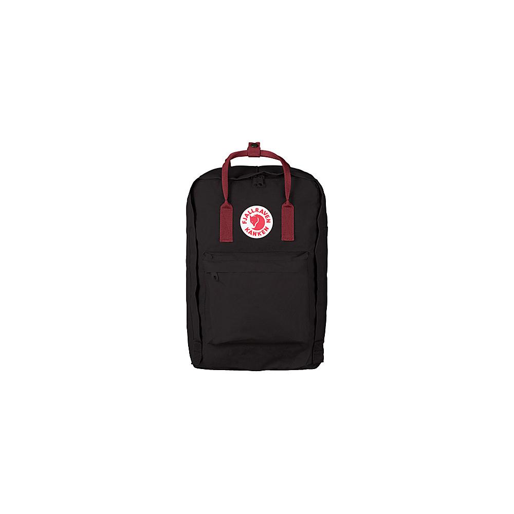 Fjallraven Kanken 15 Backpack Black-Ox Red - Fjallraven Laptop Backpacks - Backpacks, Laptop Backpacks