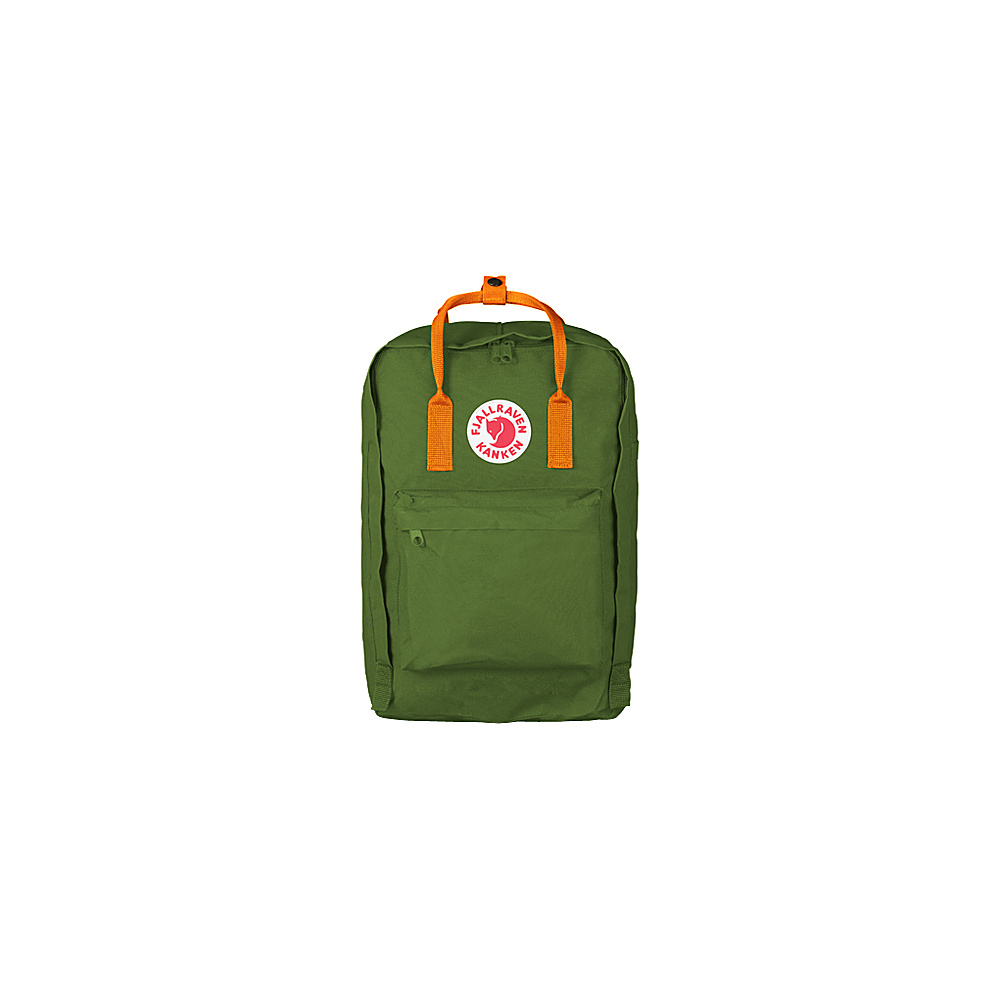 Fjallraven Kanken 15 Backpack Leaf Green-Burnt Orange - Fjallraven Laptop Backpacks - Backpacks, Laptop Backpacks