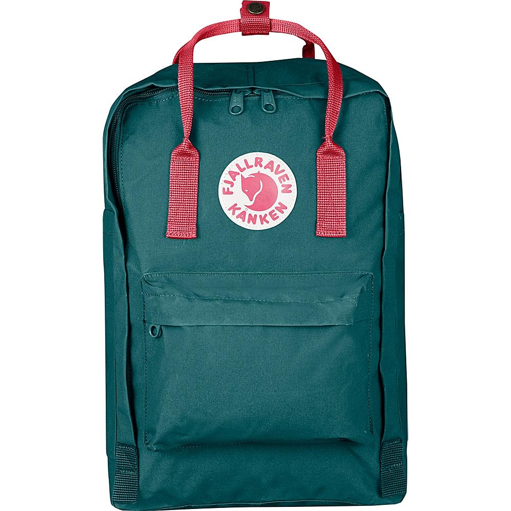 Fjallraven Kanken 15 Backpack Frost Green-Peach Pink - Fjallraven Laptop Backpacks - Backpacks, Laptop Backpacks