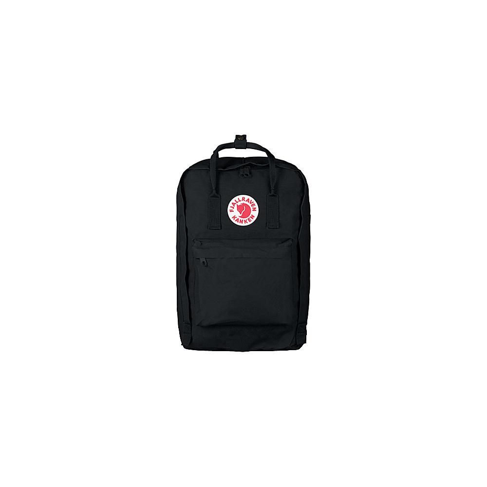 Fjallraven Kanken 15 Backpack Black - Fjallraven Laptop Backpacks - Backpacks, Laptop Backpacks