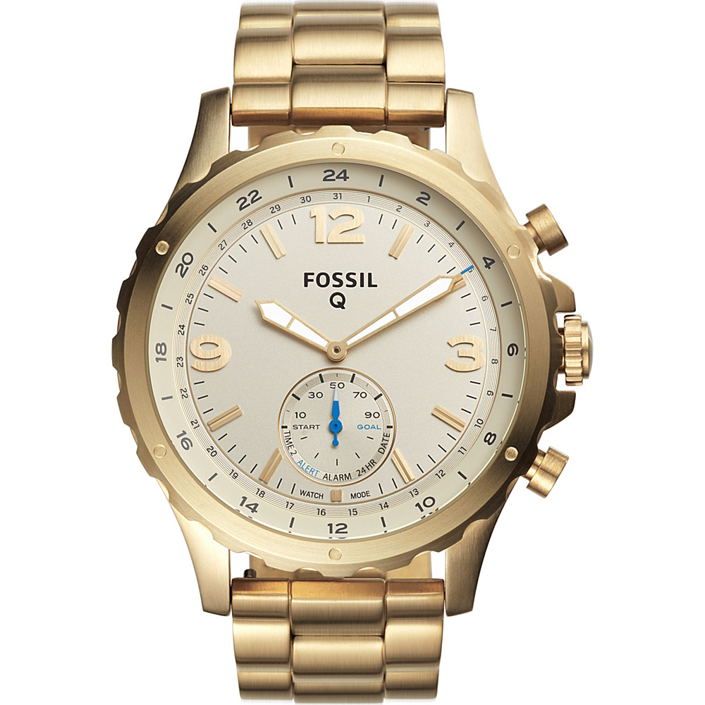 Fossil Q Nate Hybrid Smartwatch Gold - Fossil Wearable Technology