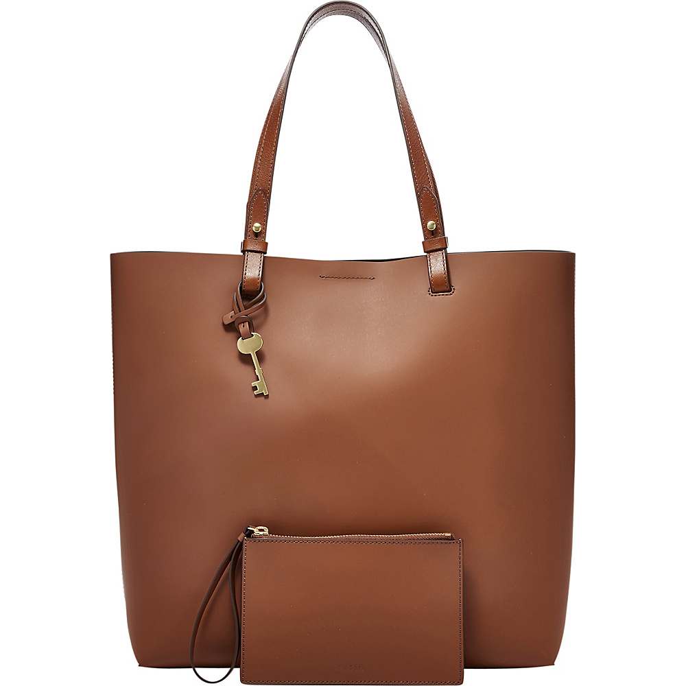 Fossil Rachel NS Tote Brown - Fossil Leather Handbags - Handbags, Leather Handbags