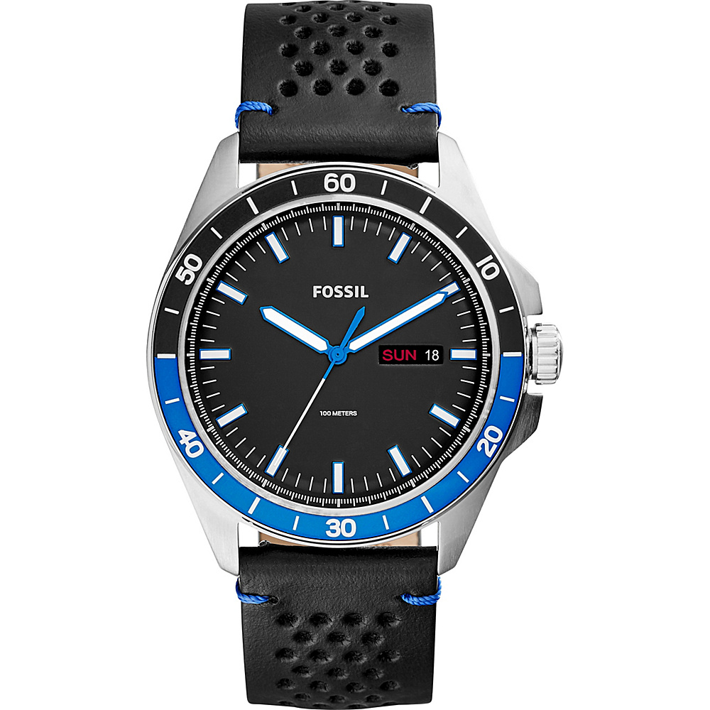 Fossil Sport 54 Three-Hand Day-Date Watch Black - Fossil Watches - Fashion Accessories, Watches