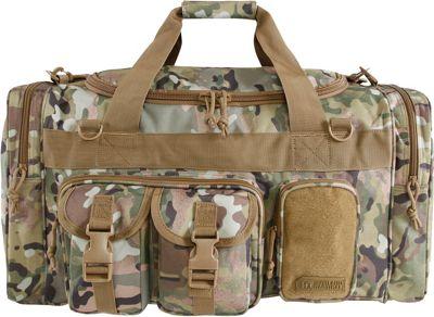 Highland Tactical 23 inch Ranger 7-Pocket Tactical Duffel Bag Brown Camo - Highland Tactical Travel Duffels